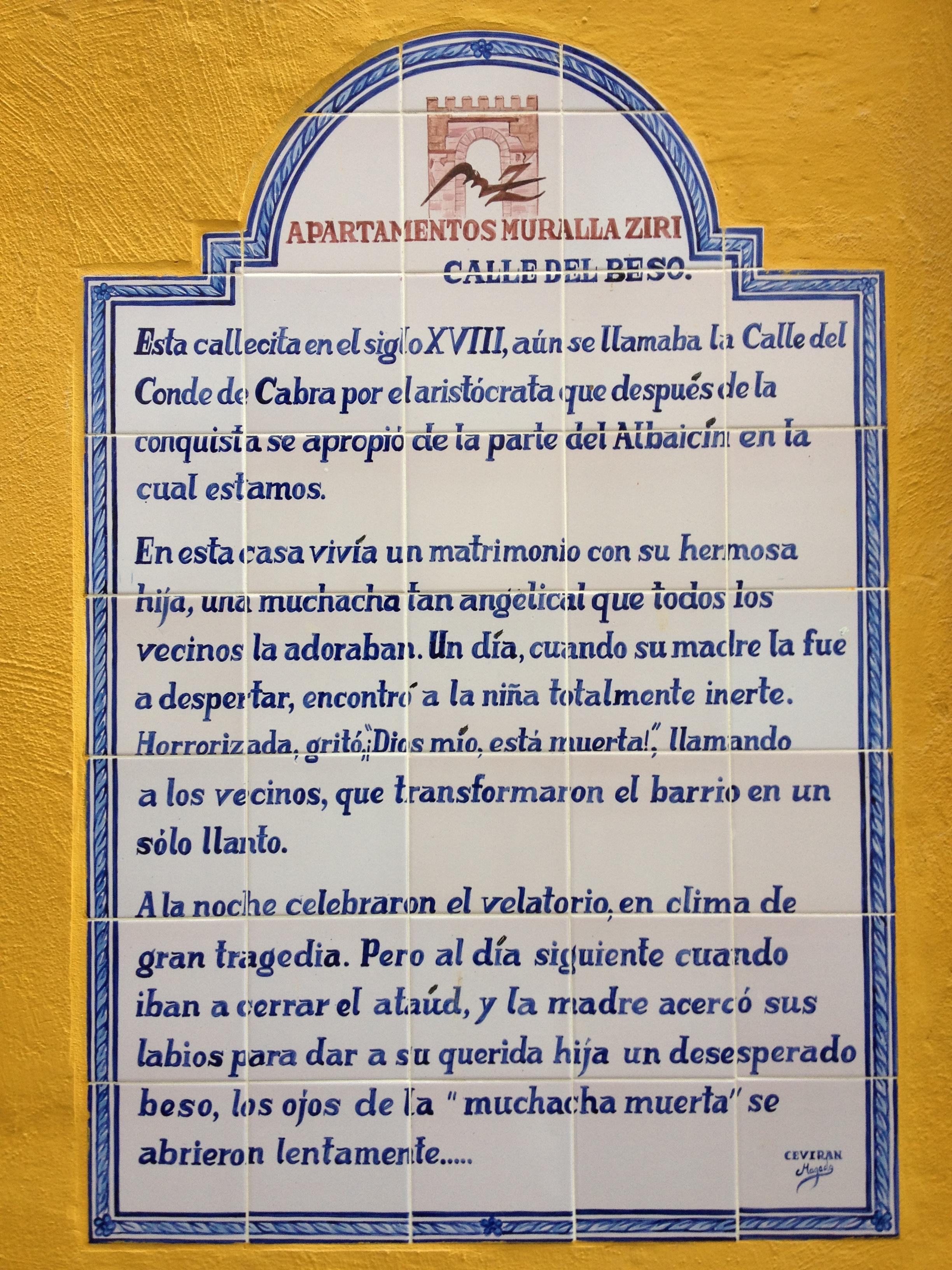 Granada-Calle del Beso